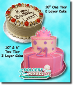 "Dolcery Desserts 10"" - 2 Layers Signature Cakes"